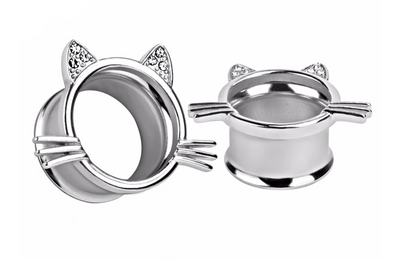 Silver Kitty Tunnel #834 - Fux Jewellery