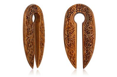 Wooden Ancient Ear Weights #WH05 - Fux Jewellery