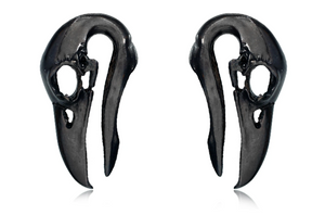 Black Raven Skull Weights #BH13-B - Fux Jewellery