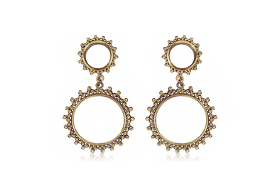 brass dotted Tunnel #PM02 - Fux Jewellery