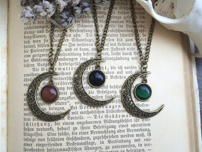 Bronze Magic Moon Necklace #N23 - Fux Jewellery