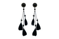 Black Feather Plugs #862 - Fux Jewellery