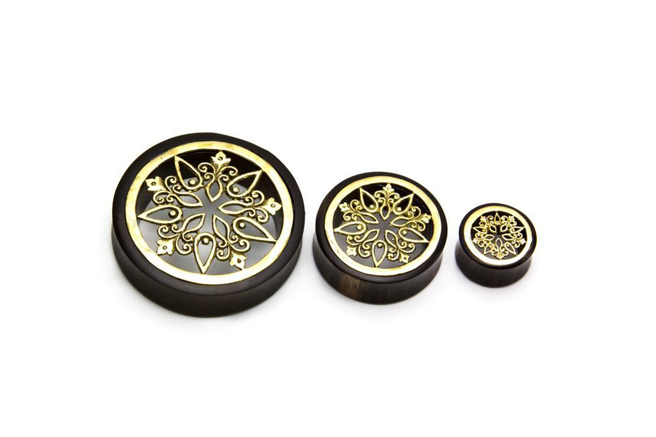wooden gold Solar Plugs #WP03