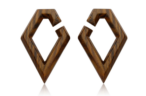 geometric wood Ear Weights #WH06
