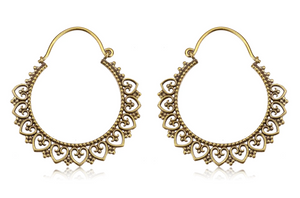 Golden Heart Tribal Hoops #BE32