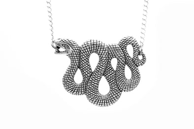 Silver Serpent Necklace #N78 - Fux Jewellery