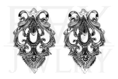 Silver Baroque Ear Weights