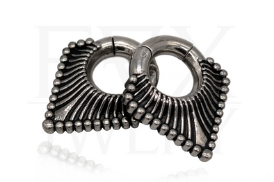 Silver Triangle Clicker Ear Weights