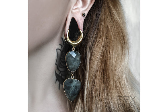 Long Labradorite Saddle Hangers