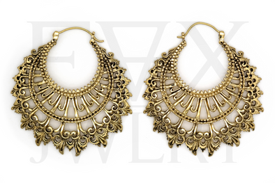 Tribal Warrior Queen Hoops