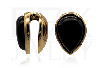 Obsidian Teardrop Ear Weights
