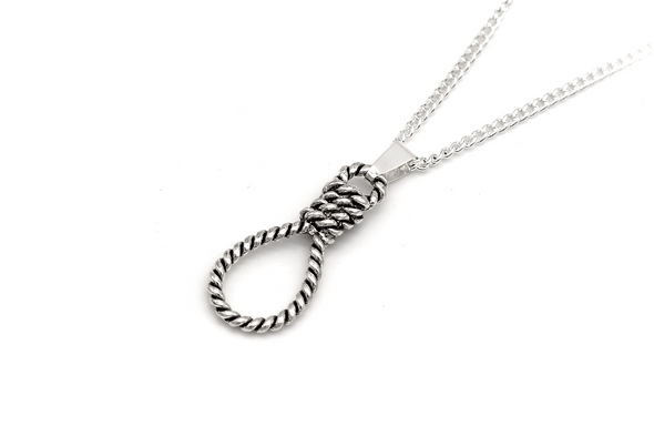 Silver Hangman's Noose Necklace