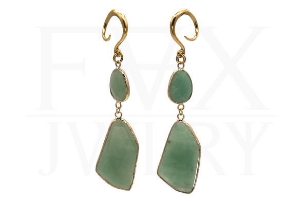 Golden Aventurine Ear Weights