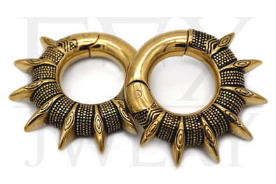 Golden Tribal Spike Ear Weights