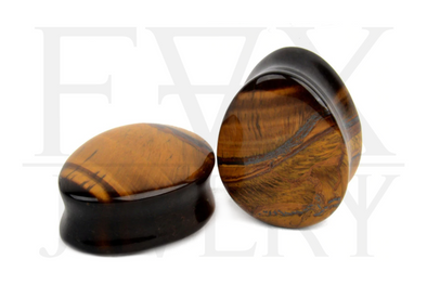 Tiger's eye Teardrop Plugs