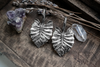 Silver Leaf Ear Weights | Fux Jewellery