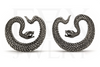 Silver Serpent Saddle Spreaders
