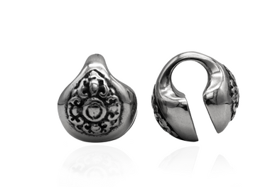 Silver Tibetan Ear Weights