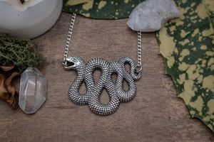 Silver Serpent Necklace #N78