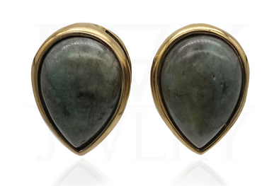 Labradorite Teardrop Ear Weights