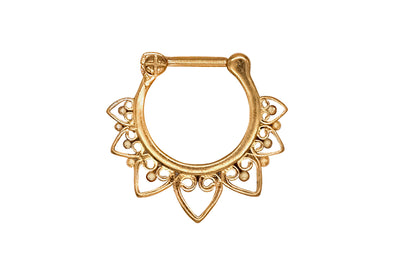 Golden Lotus Flower Septum Clicker