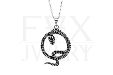 Silver Serpent Necklace