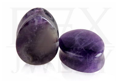 Amethyst Teardrop Plugs