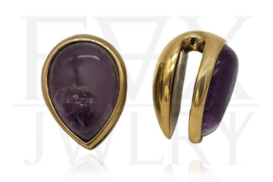 Amethyst Teardrop Ear Weights