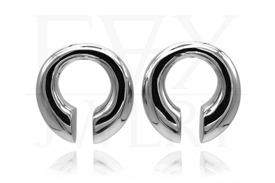 Silver Minimalistic Ear Weights
