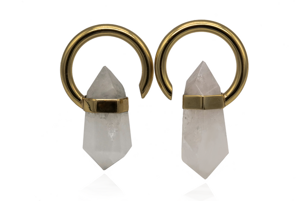 Golden Quartz Ear Hangers
