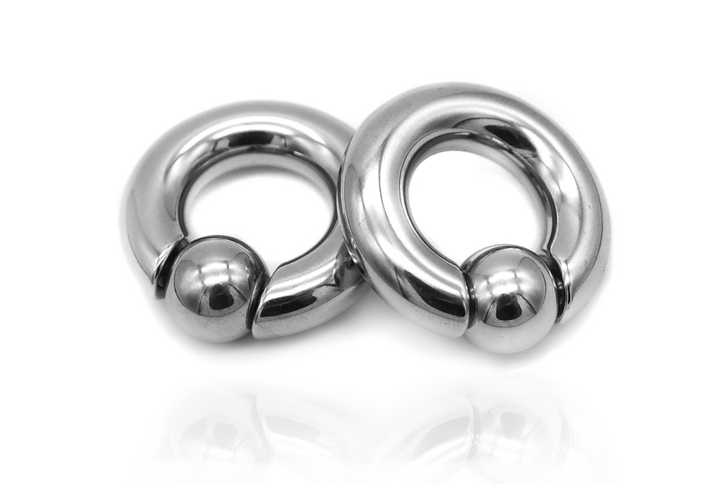 Silver Ball Closure Ring Ear Weights