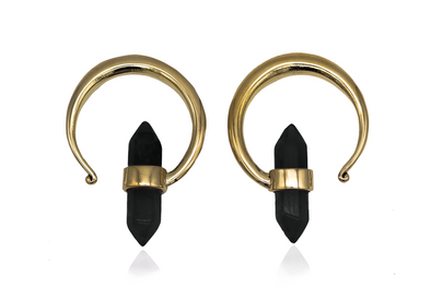 Golden Onyx Ear Hangers