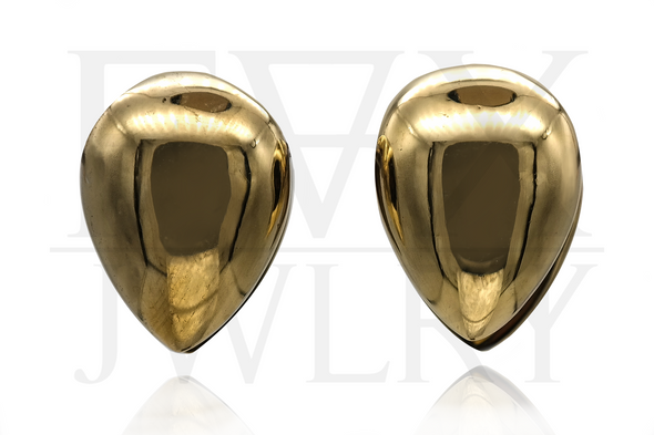 Golden Teardrop Ear Weights