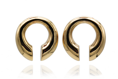 Golden Minimalistic Ear Weights