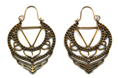 golden triangle Lotus Hoops #BE40