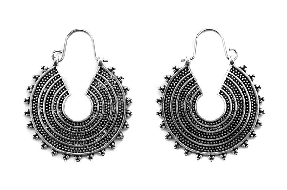 Silver Sol Hoops #BE41-S - Fux Jewellery