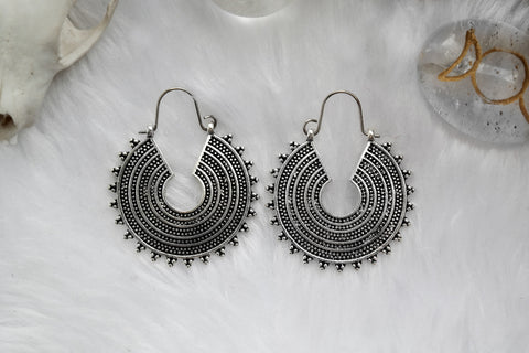silver Sol Hoops #BE41-S