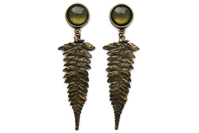 Bronze Fern Plugs #P18 - Fux Jewellery