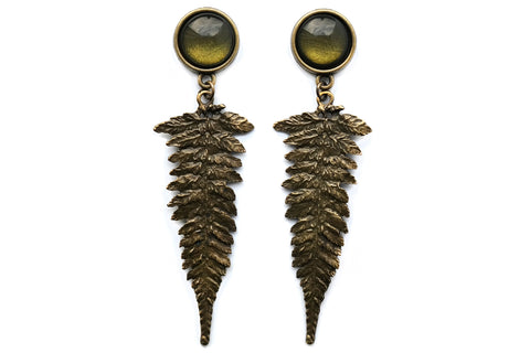 bronze Fern Plugs #868