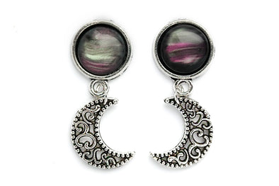 Small Nebula Moon Plugs #P14 - Fux Jewellery