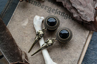 Small Bronze Raven Skull Plugs #P15 - Fux Jewellery