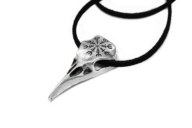 Helm of Awe Raven Skull Necklace #N77