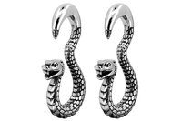 Silver Serpent Ear Weights #EW21 - Fux Jewellery