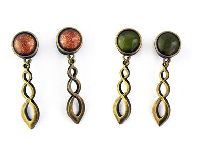 "bronze ""Eternal Twist"" Plugs #462 - Fux Jewellery"