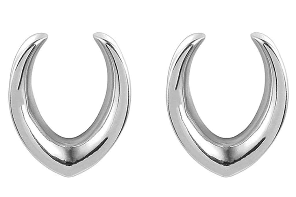 Silver V-Shaped Saddle Hangers #SH01 - Fux Jewellery