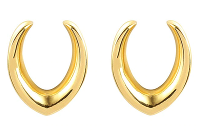 Golden V-Shaped Saddle Hangers #SH02 - Fux Jewellery