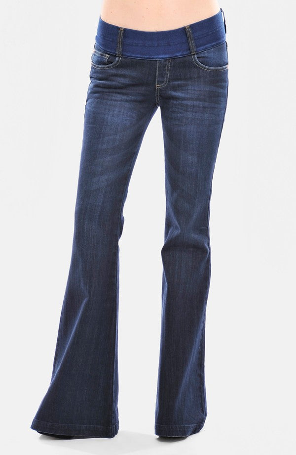 Classic Maternity Flare Jeans by Olian