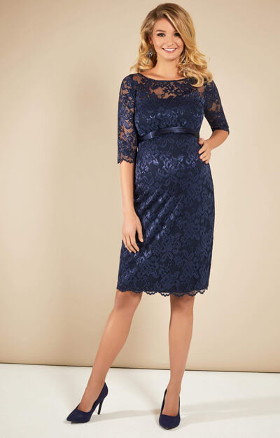 Tiffany Rose Amelia Navy Maternity Lace Dress