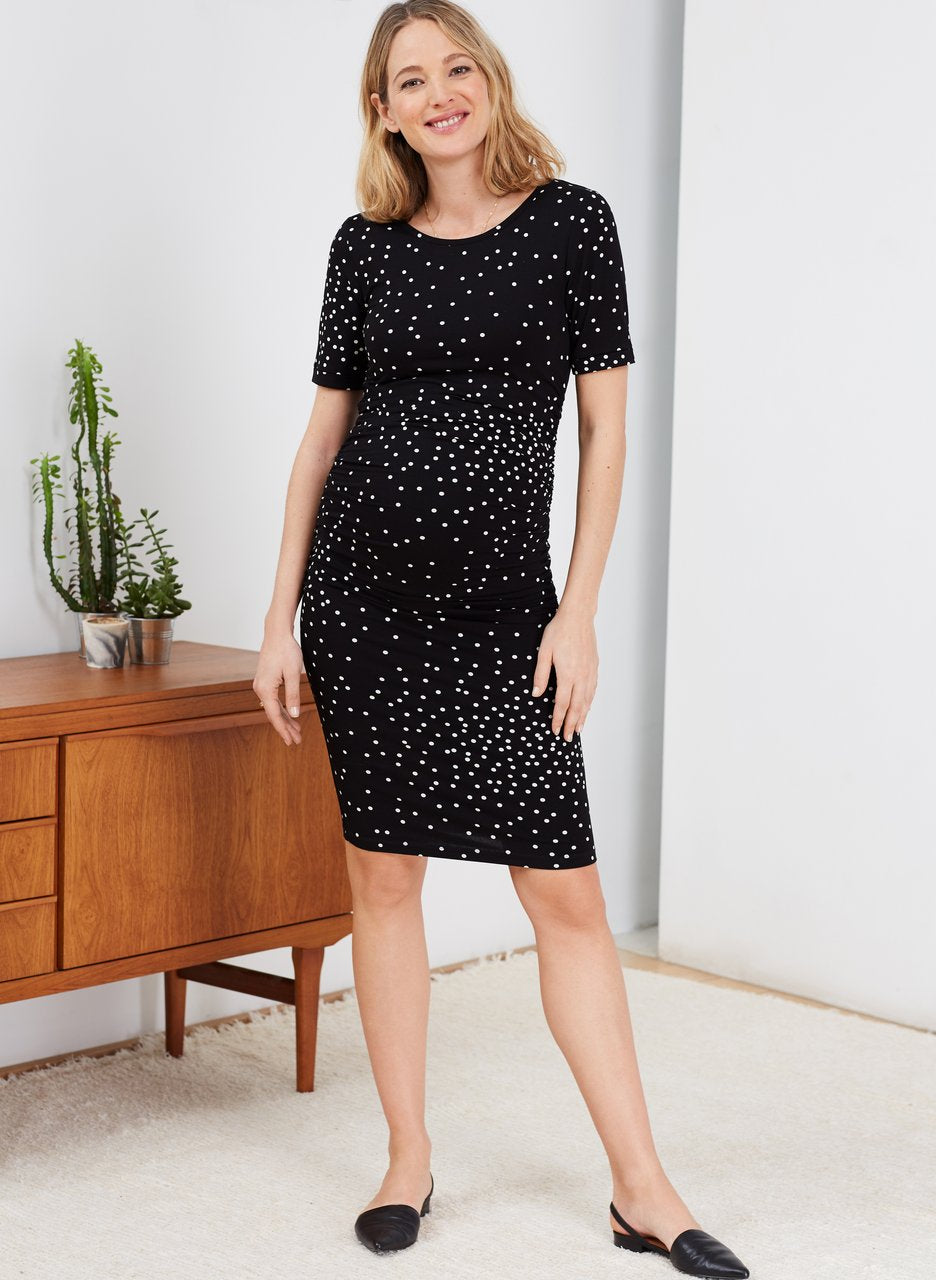 Isabella Oliver Adalie Maternity Ruched Dress - Seven Women Maternity