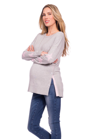 Ripe Boucle Maternity Nursing Tunic/Dress